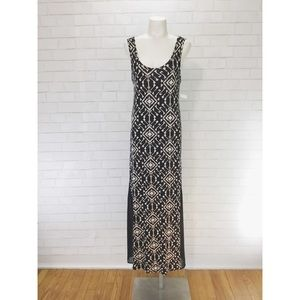 BNWT Nordstrom Dee Elle Batik Maxi Dress Geometric